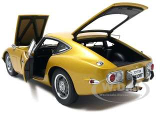 Toyota 2000 GT Coupe Upgraded Diecast Model Car 1/18 Gold Die Cast Car
