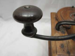ANTIQUE FRUIT WOOD WOODEN BOX COFFEE GRINDER MILL