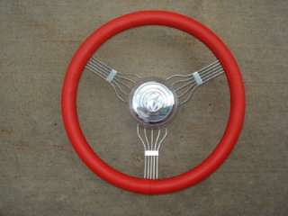 RED Banjo Steering Wheel Model A 1932 Ford Rat Hot Rod