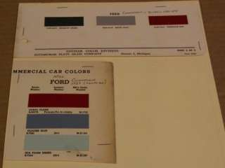 Ford ca. 1951   1954 Commercial Car & Truck Paint Chips
