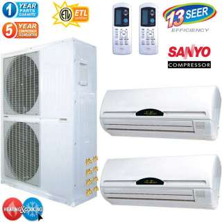 Ton Mini Split Air Conditioner w/ Heat Pump