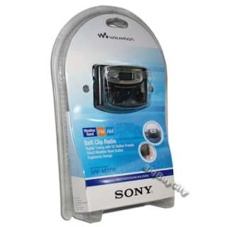 SONY SRF M37W WALKMAN DIGITAL TUNING WEATHER BAND AM/FM STEREO RADIO