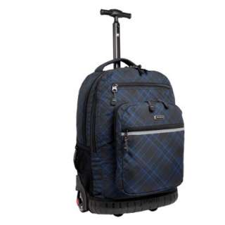 World Rolling Backpack with Laptop Sleeve   Black/Blue (19.5