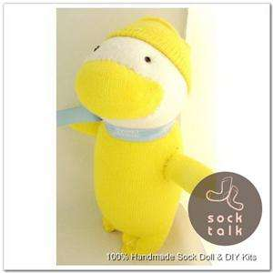 Handmade Yellow Sock Monkey Duck Stuffed Animals Baby Toy