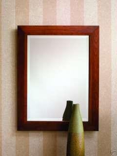 Cherry Framed Bathroom Vanity Decorative Mirror NEW 442