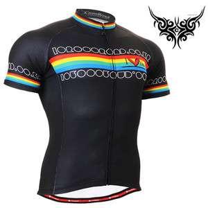 mens Cycling bike bicycle shirt short sleeve top gear cyclist jersey S