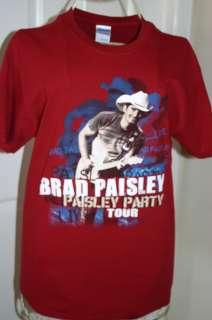 Brad Paisley Paisley Party Tour Concert Tee Shirt Medium Tee Shirts