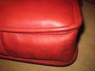 COACH Vintage Red Leather Saddle Bag Cross Body Satchel Classic Chic