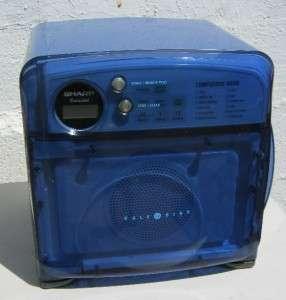 Blue Sharp Half Pint Carousel Microwave R 120DB