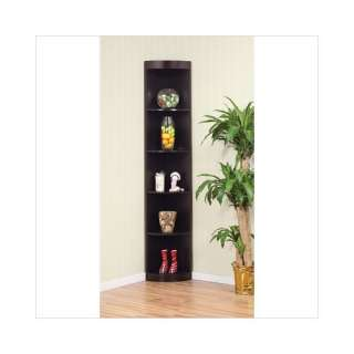 Five Shelves Corner Display Cabinet / Stand in Coffee Bean Furniture