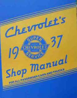 COMPLETE 1937 CHEVY CAR & TRUCK FACTORY SERVICE MANUAL