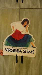 VIRGINIA SLIMS CIGARETTE ADVERTISING TOBACCO SIGN