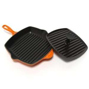 Le Creuset Enameled Cast Iron Panini Press and Skillet Grill