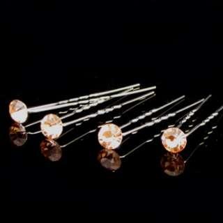 SHIPPING 4 bridal diamond like rhinestone crystal Hair Pin fork