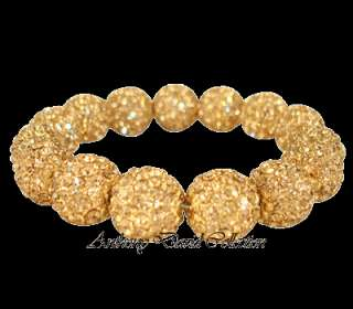 Ladies Jewelry Gold Crystal Pave Bracelet with Swarovski Crystals