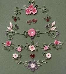 El equipo de Quilling de boda y de romance incluye los diseños, papel