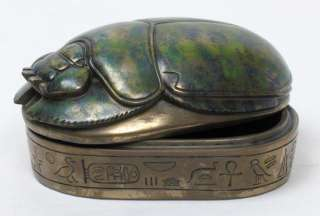Egyptian Scarab Beetle Hieroglyphs Jewelry Trinket Box