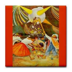 Diego Rivera Pinata Mexico Art Art Tile Coaster by