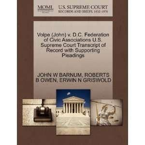 Volpe (John) v. D.C. Federation of Civic Associations U.S