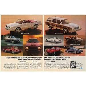 1982 Lee Iacocca Chrysler Dodge Plymouth Cars 5 Year
