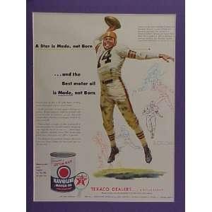 Otto Graham Cleveland Browns Star Quarterback 1950 Texaco