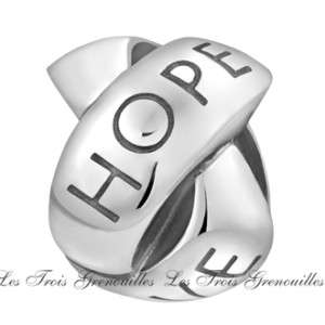 Silver Love Hope Faith Knot Bead Charm Jewelry TT426 Fit Bead Bracelet