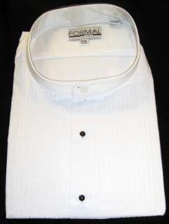 New Mens White Formal Mart Tuxedo Shirt