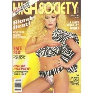 HIGH SOCIETY AUGUST 1987 SUSAN DEY: HIGH SOCIETY MAGAZINE: Books