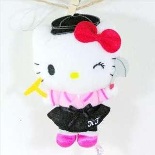 Hello Kitty Plush 5 Soft Toy With Strap Ornament Golf Sanrio