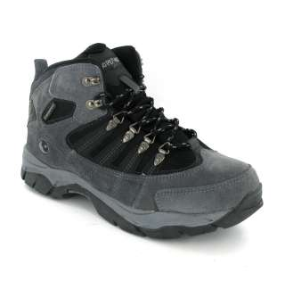tec Kruger Waterproof Grey Black Suede Leather Hiking Boots Size 7 12