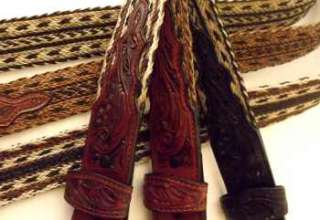 SALE Ultimate Horse Hair Belt Hand Carved size 44 BEAUTY