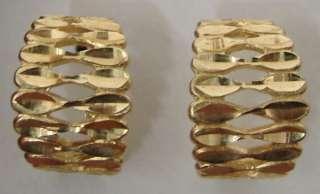 Beautiful 14K Gold Huggie Earrings 5.0g