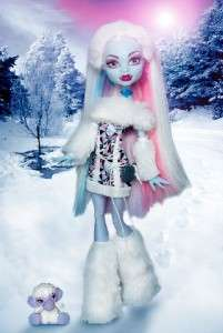 MONSTER HIGH DOLL ABBEY ABOMINABLE BOMINABLE WITH PET SHIVER