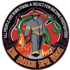 BACK PATCH HERO FIRE FIGHTERS Fireman Biker Patches