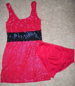 Sequin Dance Jazz Costume Dress CHILD & ADULT S M L