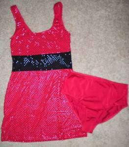 Sequin Dance Jazz Costume Dress CHILD & ADULT S M L