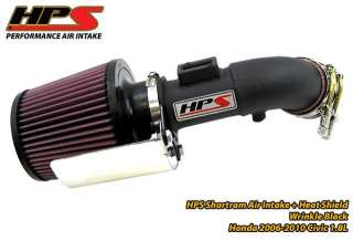 Honda 06 11 Civic 1.8L HPS Shortram Air Intake Black