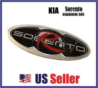 KIA Sorento LOGO Emblem Front/Rear Set Grill + Trunk