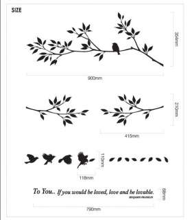 Flying Bird Tree Decor Mural Art Wall Sticker Decal Y307 (various