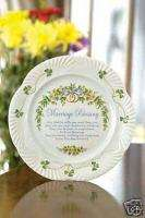 BELLEEK CHINA / MARRIAGE BLESSING PLATE