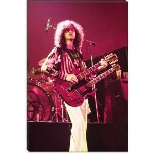 Jimmy Page of Led Zeppelin Double Neck Guitar 1973