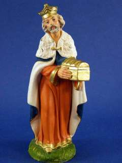 Made in Italy Vintage 8 Piece Paper Mache Nativity Figures
