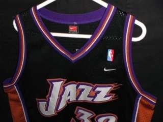 NIKE VTG GC #32 KARL MALONE UTAH JAZZ NBA SWINGMAN JERSEY SHIRT RETRO