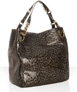 STEVEN by Steve Madden black leopard patent tote