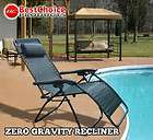 Zero Gravity Chairs Case Of (2) Green Lounge Patio Chairs Outdoor Yard