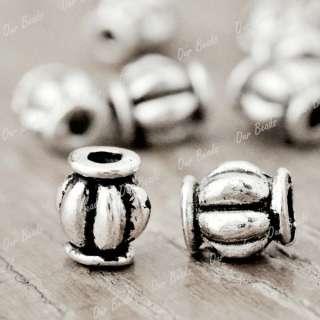200pcs Tibet Style Tibetan Silver Tube Charm Spacers Bead Findings