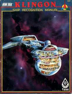 Star Trek KLINGON SHIP RECOGNITION MANUAL 2301 VGC Star Trek Role