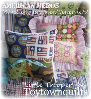 Military Army Marine Navy AF Camo Chenille baby bedding