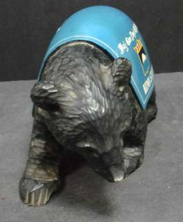 Army Security Agency Kuma Station Ainu Carved Military Bear, NR