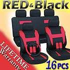 Black Auto Car Seat Covers FREE Steering Wheel Belt Pads Head Rests